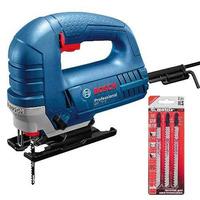 Kit - Serra Tico-Tico 710 Watts - GST 75-E Bosch - 110v + Laminas para Serra Tico Tico em Aço Carbono