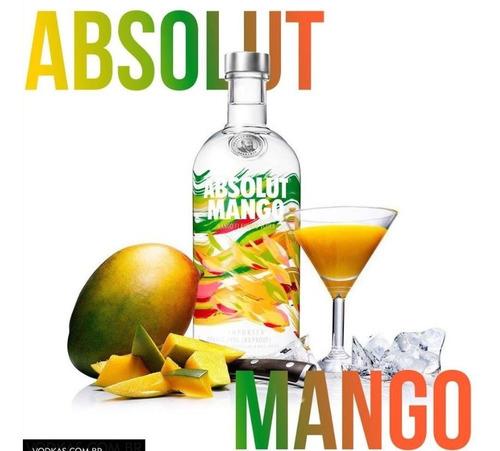 04 Un Vodka Absolut Sabor 1 Litro Cada  Sabores Original