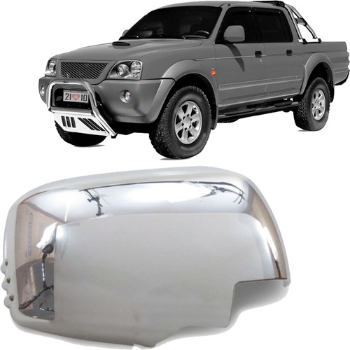 Aplique Cromado Do Retrovisor L200 Triton Pajero Dakar 08 Ld Original