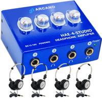 Amp De Fones Arcano Hae4studio + 04 Fones LIVE-414 + 04 Extensores