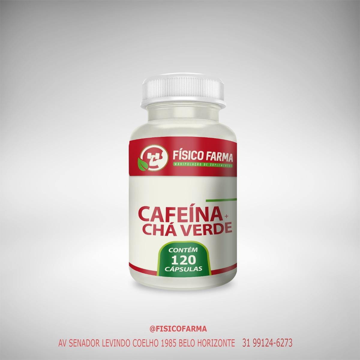 Cafeína 210mg + Chá Verde 250mg  - 120 c&aa...