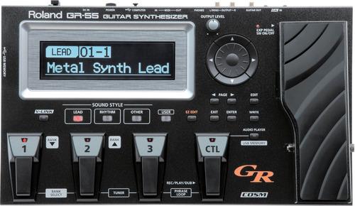 Pedaleira Sintetizador Midi Roland Gr55 Gk3 Preta Com Nf Original