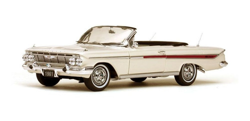 1961 Chevrolet Impala Branco - Escala 1:18 - Sun Star Original