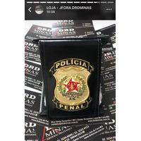 Carteira Couro Preta Policia Penal