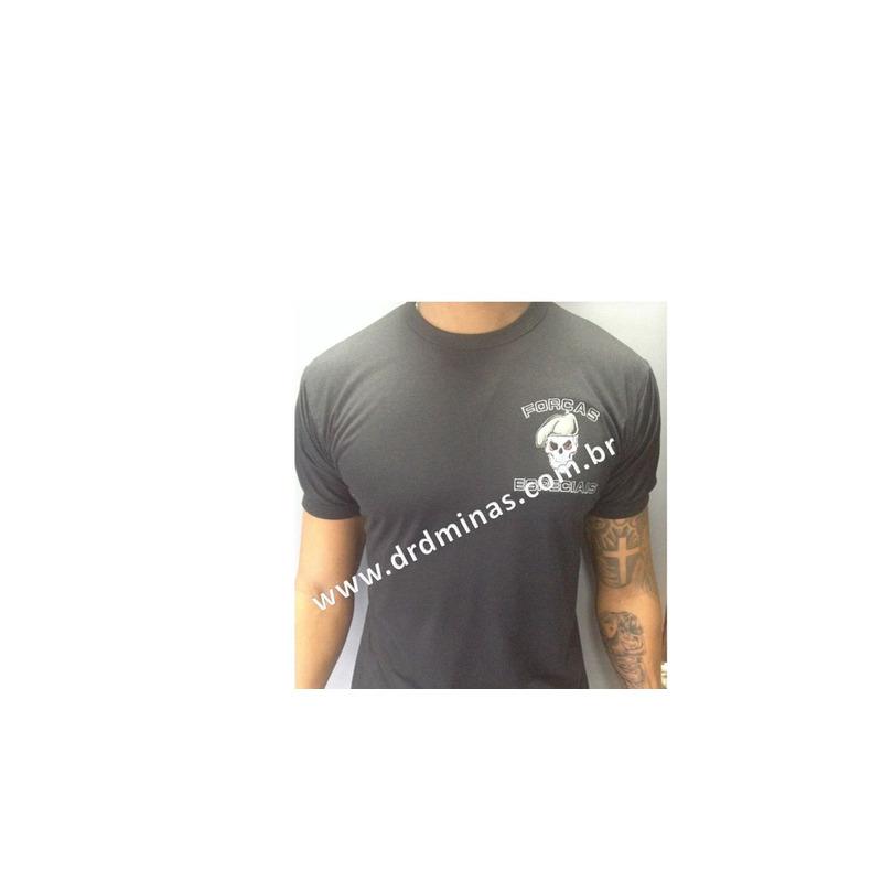 Camisa Preta Forças Especiais - Bordada