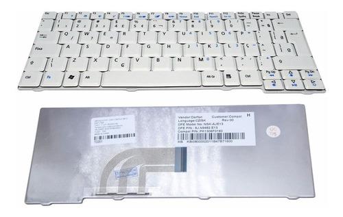 Teclado Branco Acer Aspire One Zg5 Zg6 Za8 Zg8 Kav10 Kav60 Original
