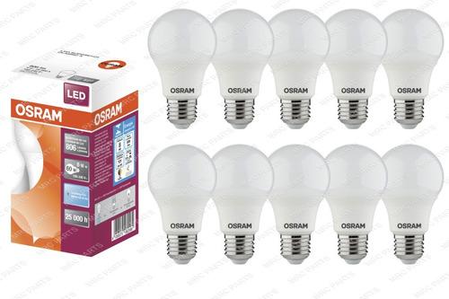 Kit 10 Lampada Led Bulbo 8w Osram E27 Inmetro Equivale A 9w Original