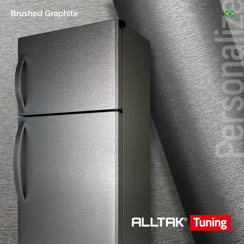 Adesivo para envelopamento automotivo brushed grafite larg. 1,38 m