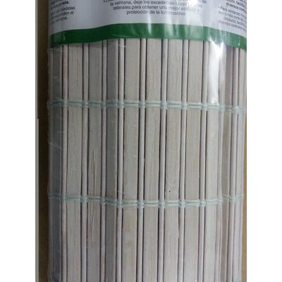 Persiana Bambu Cortina Rolo Roller 100 X 220 Cm Mista Branca em São Paulo