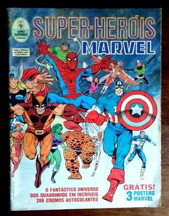 Album Super Heróis Marvel -incompleto (ed. Abril-1991)-ótimo