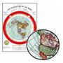 Mapa Do Mundo 60cmx84cm Terra Plana Para Fazer Quadro