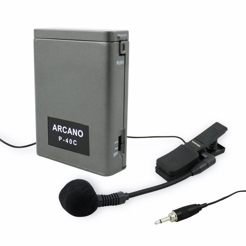 Microfone Condensador Arcano Fd-1001 C/ Alimentador De Corpo