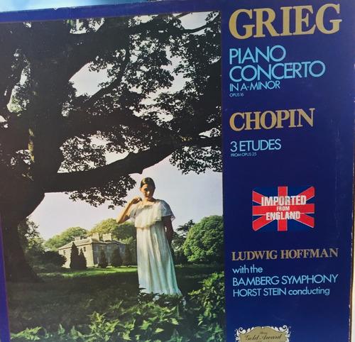 Lp Edvard Grieg  - Piano Concerto Chopin  - In A Minor Opus Original