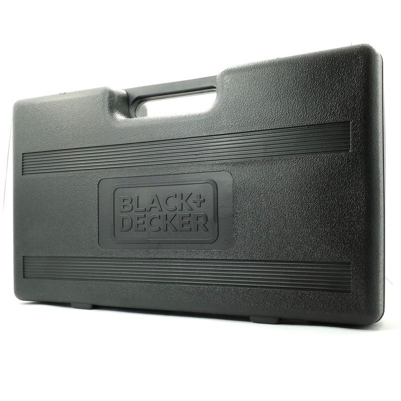 """Kit Furadeira de Impacto 3/8"""" + 26 Peças e Maleta Black+Decker - HD455K1 110V"""