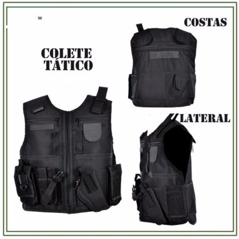 Colete De Segurança Para Balístico Tático Militar Com Coldre