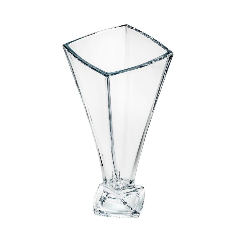 Vaso 33Cm Quadro Cristal - Bohemia