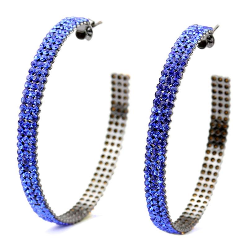 ARGOLA FESTA CRISTAL PRECIOSA CAPRI BLUE - BR010254