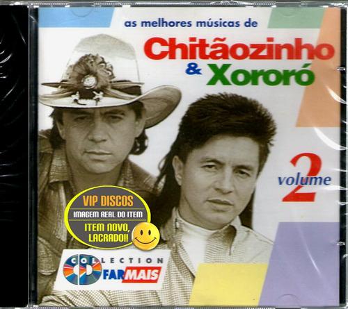 Cd Chitãozinho E Xororó Promocional Rede Farmais Vol. 2 Novo Original