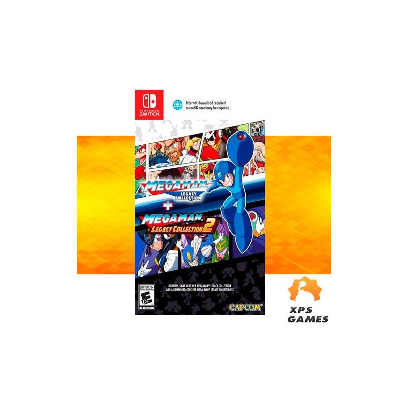 Jogo Megaman Legacy Collection 1 + 2 - Switch