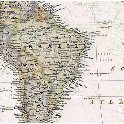 Mapa Mundi Poltico Hd Grande De Parede Em Papel Fotogrfico  R