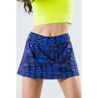 Saia Shorts Basic Light Palavras Azul