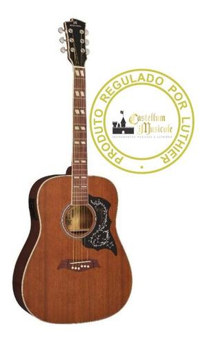 Violão Michael Folk Vm 925 Dt Mahogany Regulado Por Luthier Original