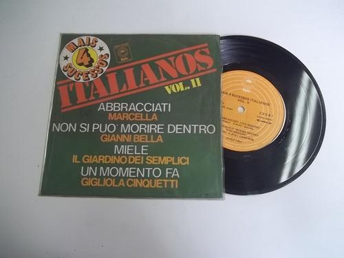 Vinil Compacto Ep - Mais 4 Sucessos Italianos Vol. 2 Original