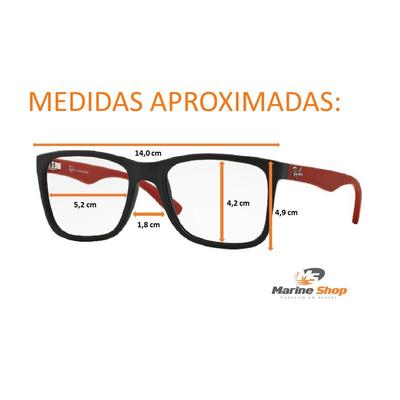 0a5e6507c Óculos Ray-ban Modelo JUSTIN - Rb7057 L - Para Grau - Preto com ...
