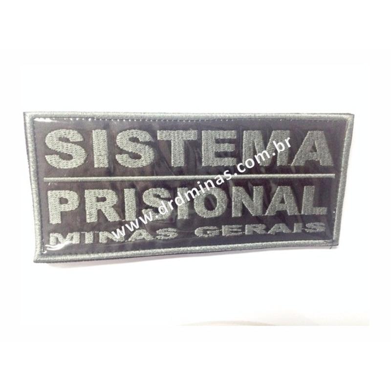 Etiqueta Bordada Sistema Prisional - CZ - 9 x 18
