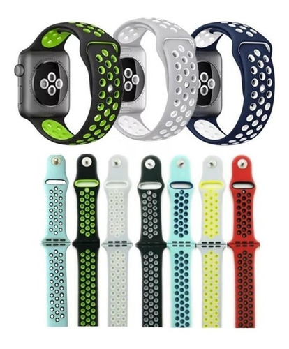 Pulseira Silicone Furo Nke Para Apple Watch Series 5 4 3 2 1 Original