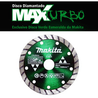 Disco de Corte Diamantado MAXTURBO 110 x 20mm - D-56976 - Makita
