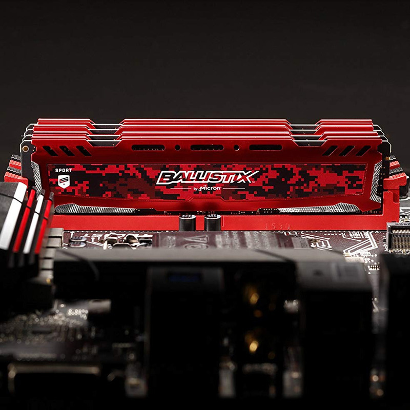 Memória Gamer Crucial Ballistix Sport 4gb DDR4 2400Mhz Vermelha by Micron Original