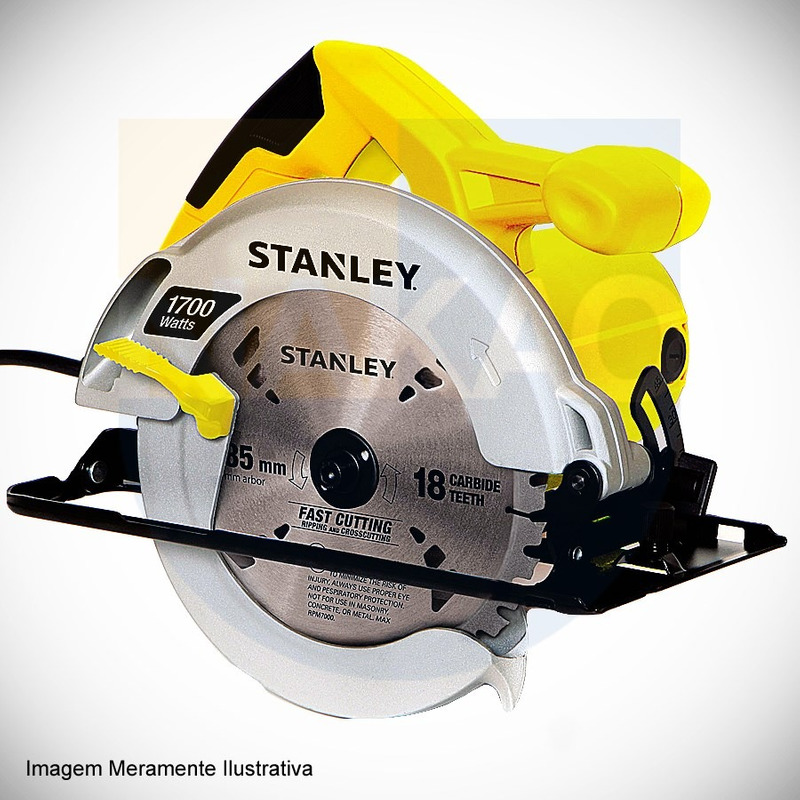 "Serra Circular 7. 1/4"" (185mm)  1.700 Watts - STSC1718 - Stanley"