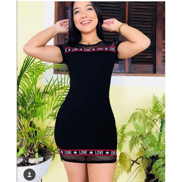 5a8b59d98 Vestido Feminino Com Detalhe Arrastão Coleção Nova em São Paulo - SP ...
