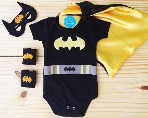 Body Batman + Superman Festa Mesversário Fantasia Carnaval Original