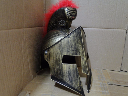 Elmo Capacete Luxo Show Leonidas 300 Esparta Xerxes Plumas