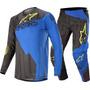 Calça Camisa Kit Alpinestars Techstar Factory 2020 Pret/azul