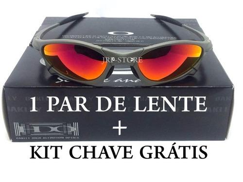 516404a75842f Óculos Juliet Penny Xmetal Fire Red + Lente Extra+ Kit Chave à venda ...
