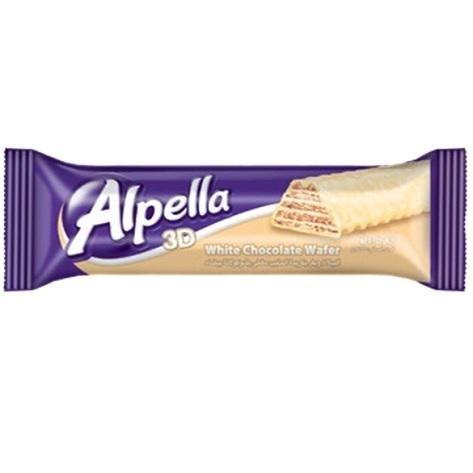 Wafer coberto com chocolate branco - 3D - Alpella