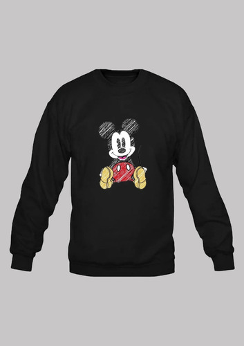 Blusa Moletom Mickey. Gola Careca Estampa Frente E Costas Original