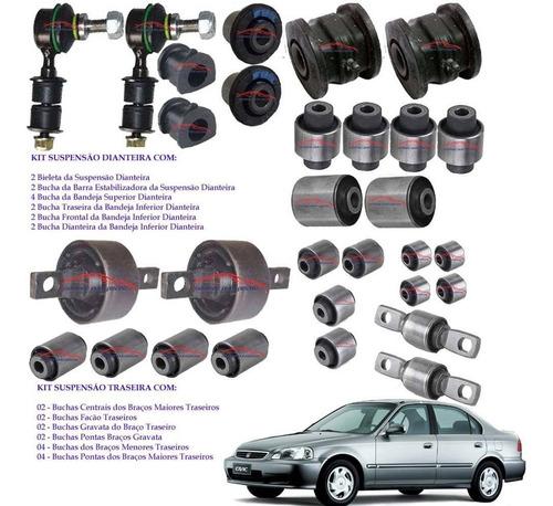 Kit 30 Buchas Suspensão Dianteira/traseira Honda Civic 96/00 Original