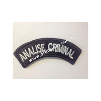 Distintivo Bordado Analise Criminal - U