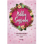 Bíblia Sagrada Nvi Letra Gigante Estampada Rosa Zíper
