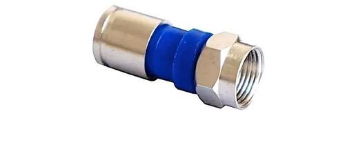 Conector Rg59 Pressão Kit Com 10 Compressão Rg59 Original