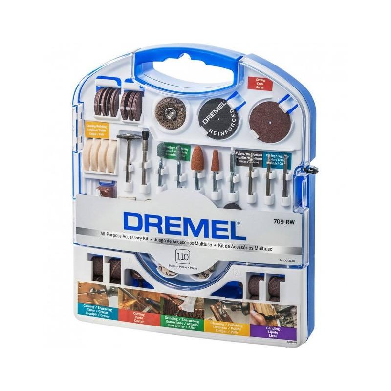 Kit acessórios Dremel 110 peças Ref.709-RW