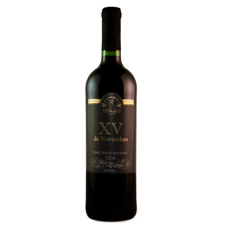 Vinho Tinto Suave Bordo 720ml XV de Novembro