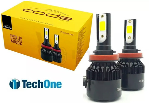 Kit Super Led Techone 12v 24v H1 H3 H4 H7 H8 H9 H11 Hb3 Hb4 Original