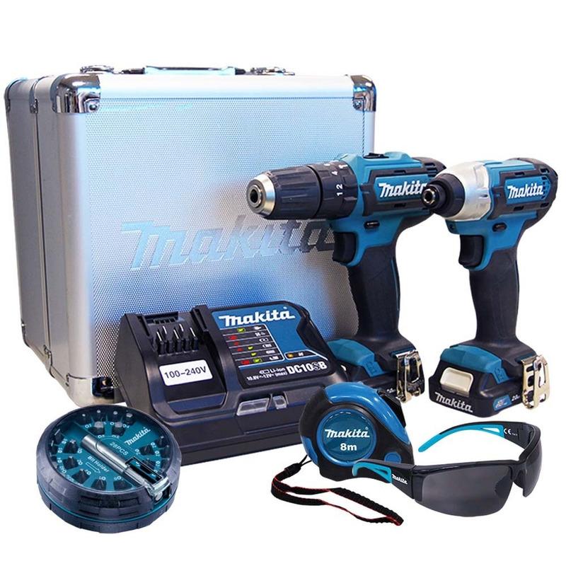 Combo Makita HP331D + TD110D + Maleta + Carregador +Bateria + Bits