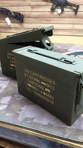 Caixa De Munição 7.62 Nova / Militaria / Com Vedação / Metal