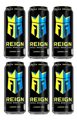 Energetico Alta Performance Reign Lemon 473ml Fardo Com 6 Original